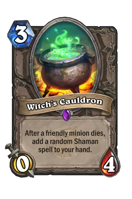 Witch's Cauldron Hearthstone kártya