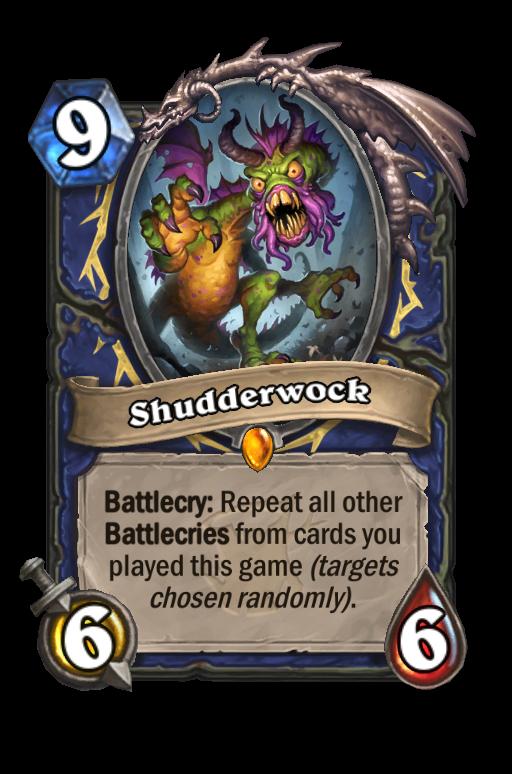 Shudderwock Hearthstone kártya