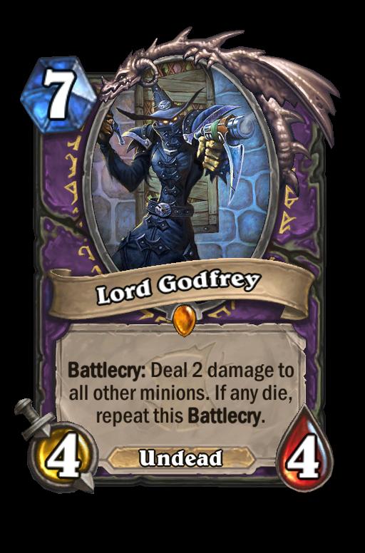 Lord Godfrey Hearthstone kártya