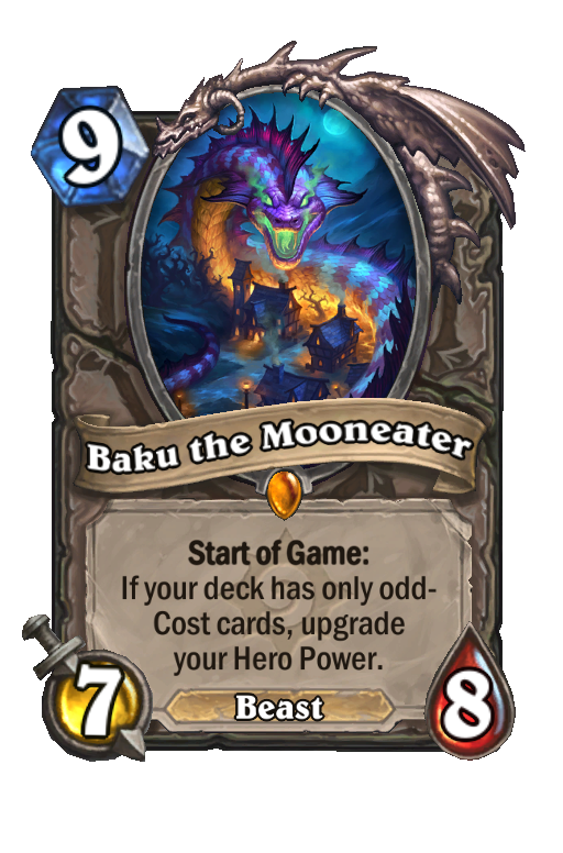 Baku the Mooneater Hearthstone kártya