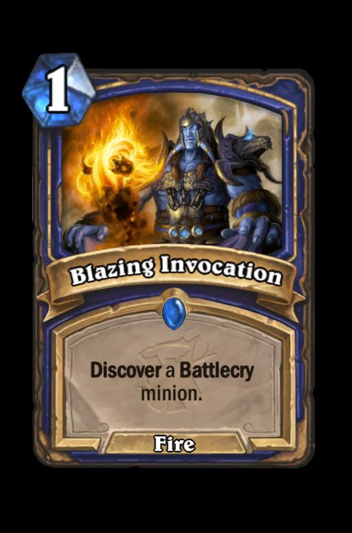 Blazing Invocation Hearthstone kártya