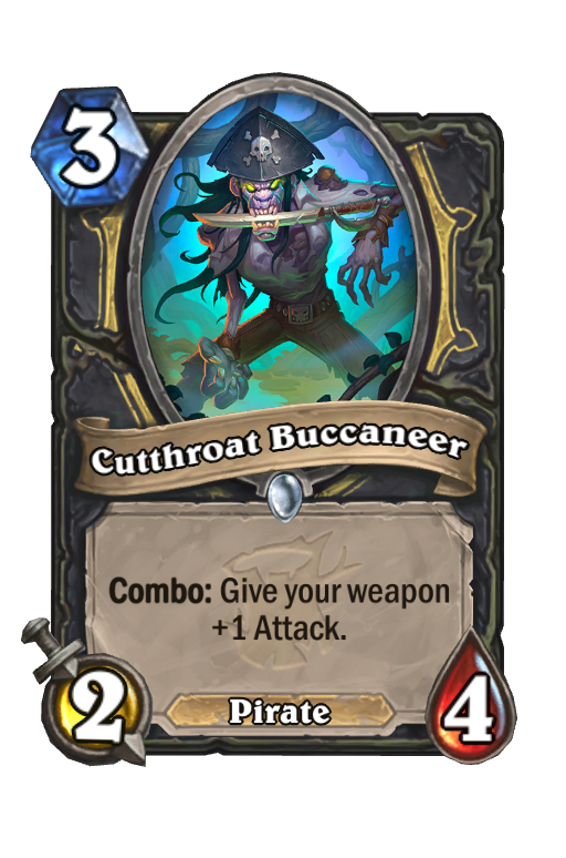 Cutthroat Buccaneer Hearthstone kártya