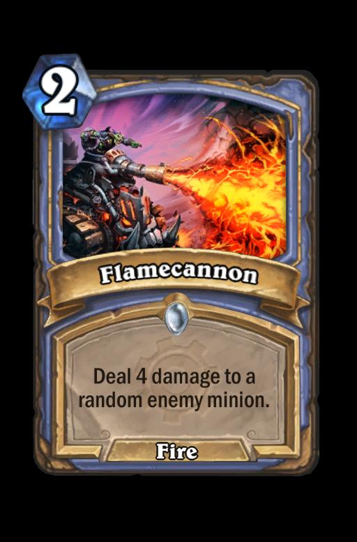 Flamecannon Hearthstone kártya