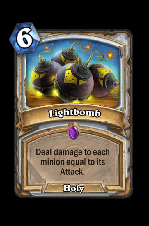 Lightbomb Hearthstone kártya
