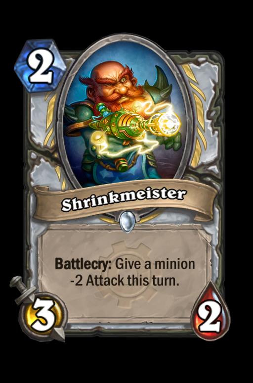Shrinkmeister Hearthstone kártya