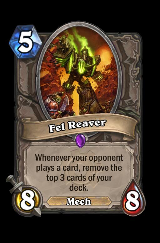 Fel Reaver Hearthstone kártya