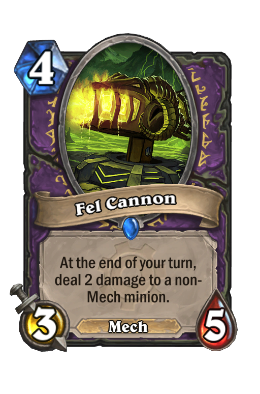 Fel Cannon Hearthstone kártya