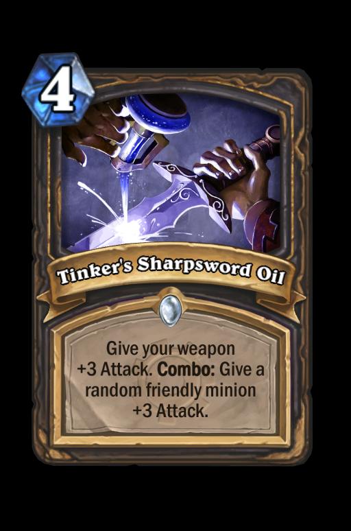 Tinker's Sharpsword Oil Hearthstone kártya