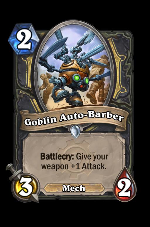 Goblin Auto-Barber Hearthstone kártya