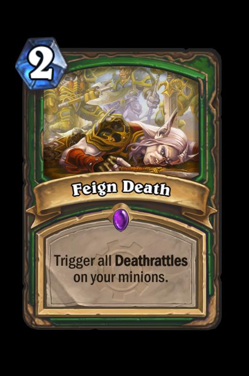 Feign Death Hearthstone kártya