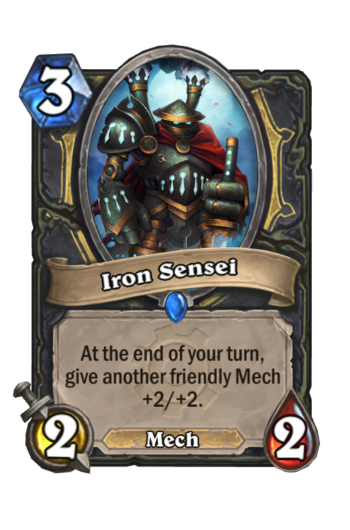 Iron Sensei Hearthstone kártya