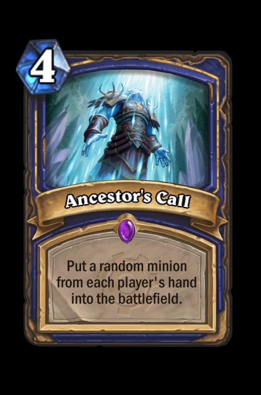 Ancestor's Call Hearthstone kártya