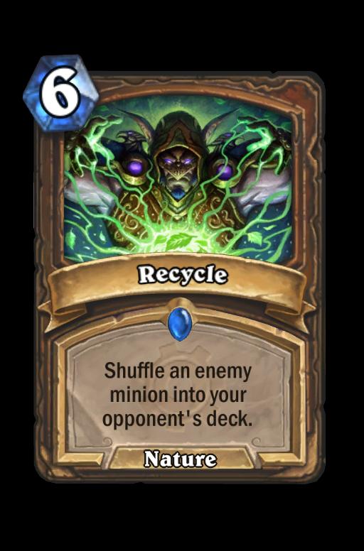 Recycle Hearthstone kártya