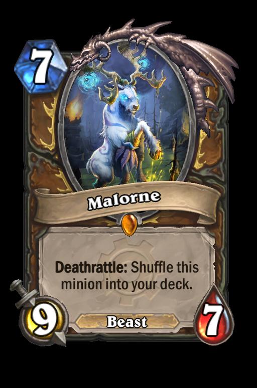 Malorne Hearthstone kártya