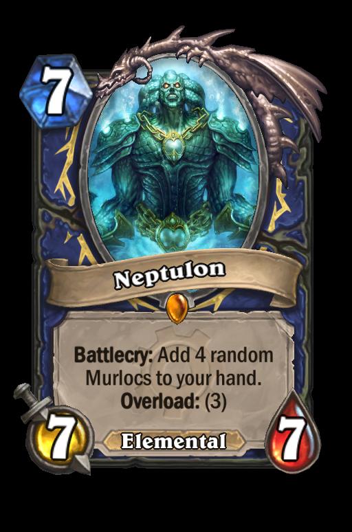 Neptulon Hearthstone kártya