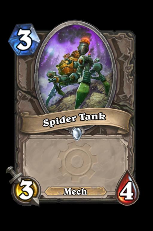 Spider Tank Hearthstone kártya