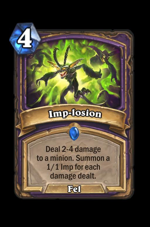 Imp-losion Hearthstone kártya