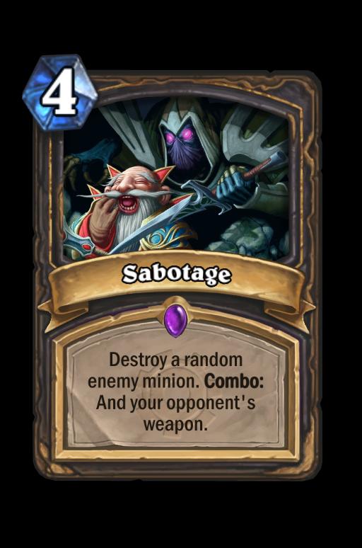 Sabotage Hearthstone kártya