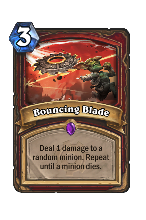 Bouncing Blade Hearthstone kártya