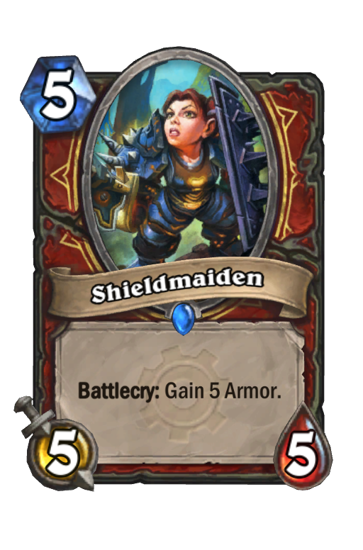 Shieldmaiden Hearthstone kártya