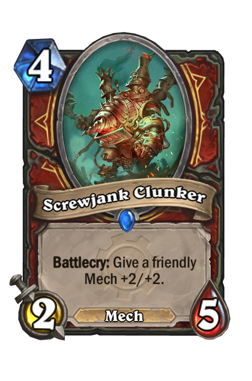 Screwjank Clunker Hearthstone kártya