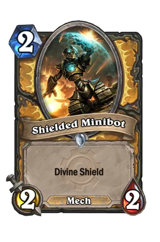 Shielded Minibot Hearthstone kártya