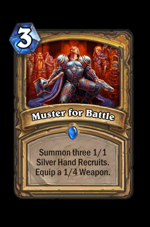 Muster for Battle Hearthstone kártya