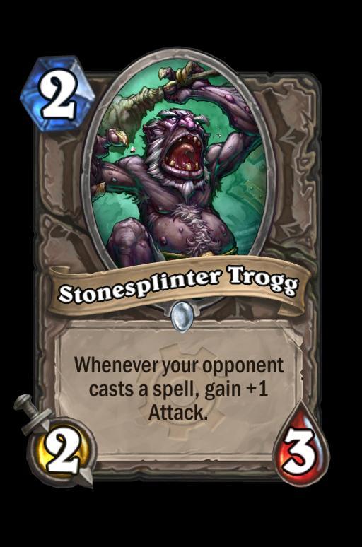 Stonesplinter Trogg Hearthstone kártya