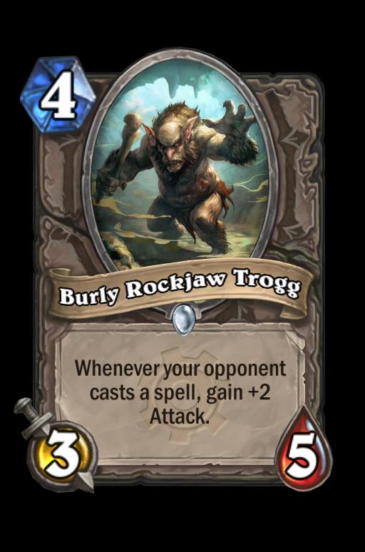 Burly Rockjaw Trogg Hearthstone kártya