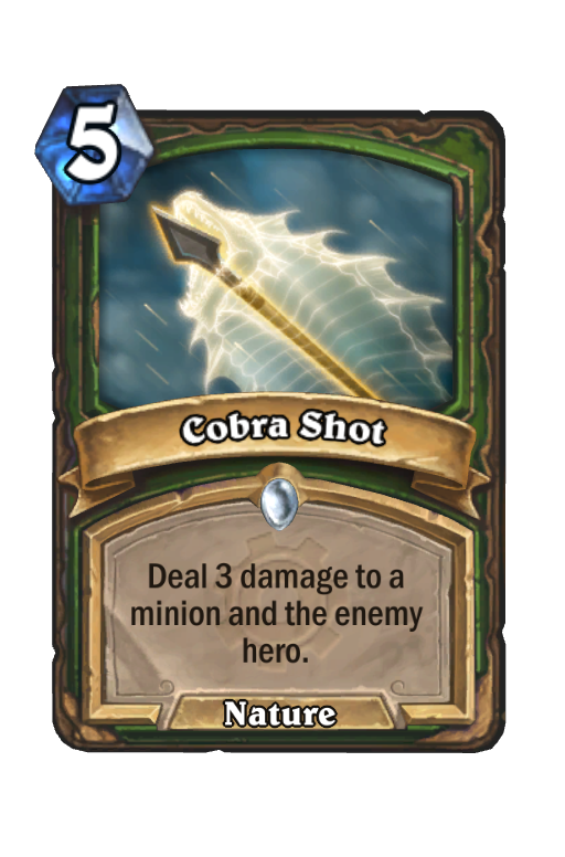 Cobra Shot Hearthstone kártya