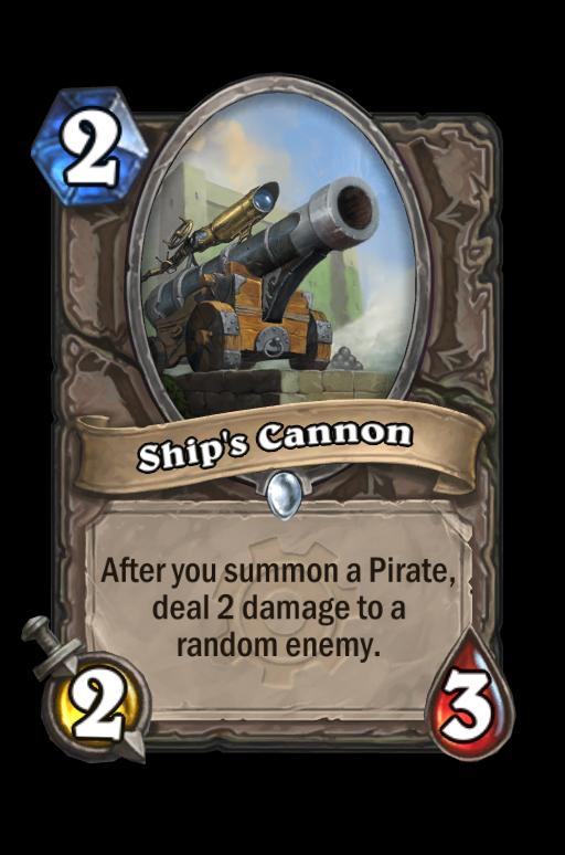 Ship's Cannon Hearthstone kártya