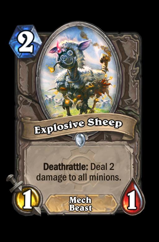Explosive Sheep Hearthstone kártya