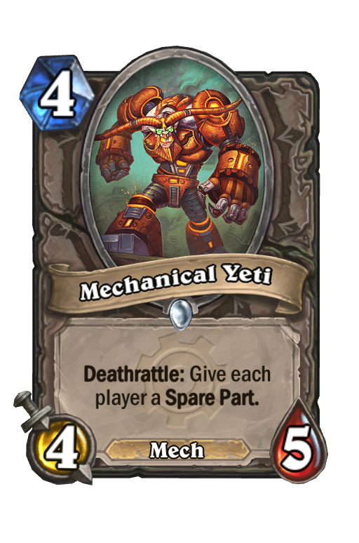 Mechanical Yeti Hearthstone kártya
