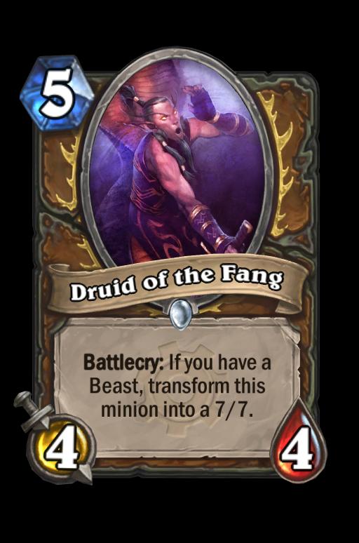 Druid of the Fang Hearthstone kártya