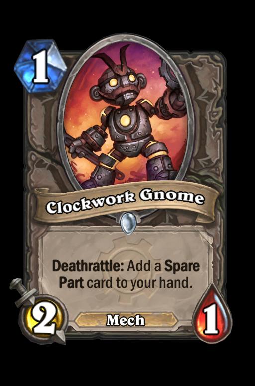 Clockwork Gnome Hearthstone kártya