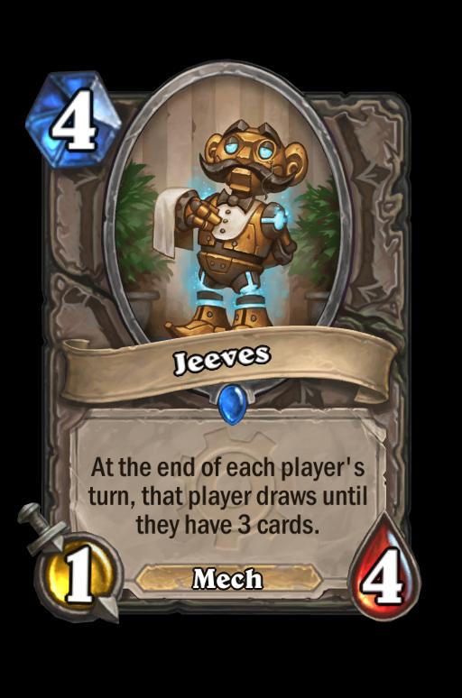 Jeeves Hearthstone kártya