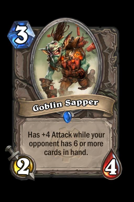 Goblin Sapper Hearthstone kártya