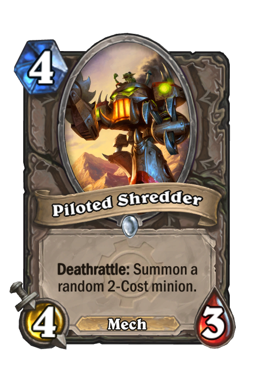 Piloted Shredder Hearthstone kártya
