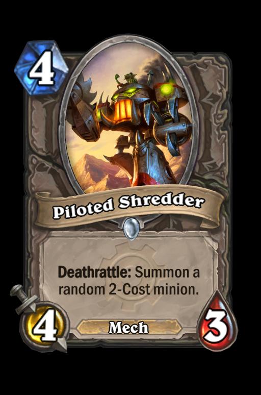 Piloted Shredder Hearthstone kártya
