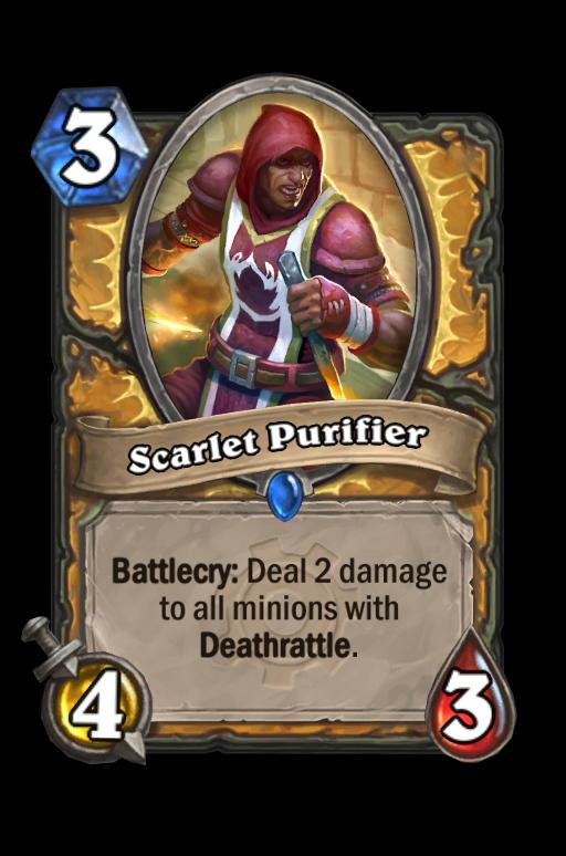 Scarlet Purifier Hearthstone kártya