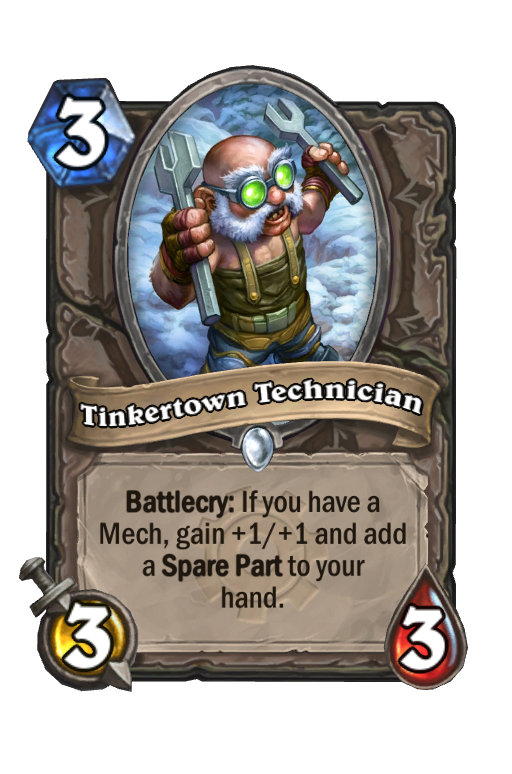 Tinkertown Technician Hearthstone kártya