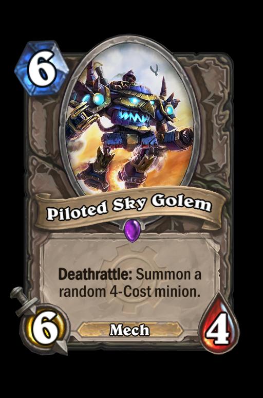 Piloted Sky Golem Hearthstone kártya
