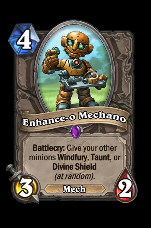 Enhance-o Mechano Hearthstone kártya