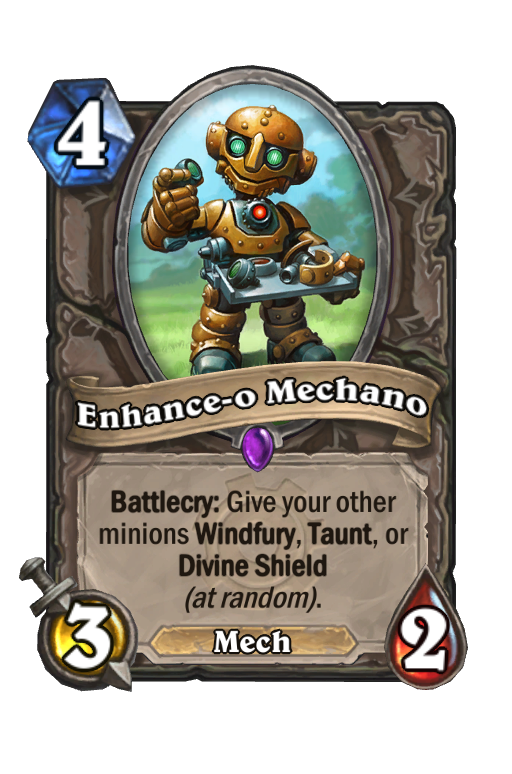 Enhance-o Mechano Hearthstone kártya
