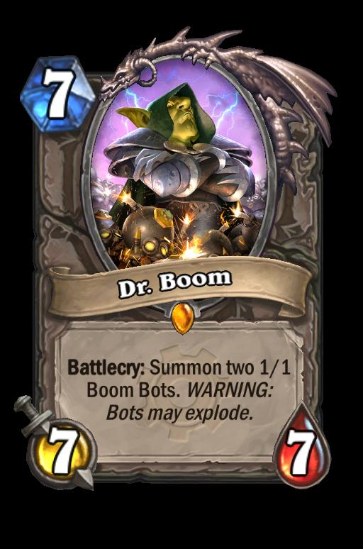 Dr. Boom Hearthstone kártya