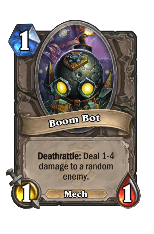 Boom Bot Hearthstone kártya