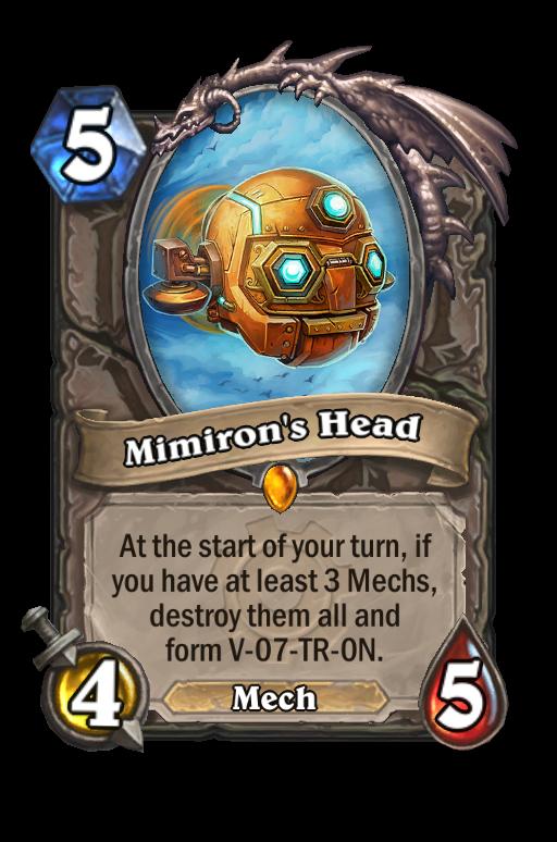 mimirons head hearthstone kártya új animáció