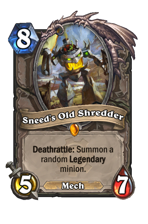 Sneed's Old Shredder Hearthstone kártya