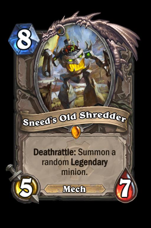 Sneed's Old Shredder Hearthstone kártya