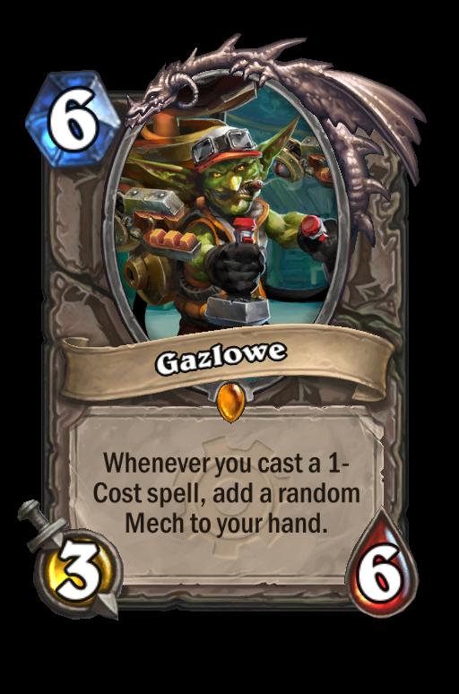 Gazlowe Hearthstone kártya